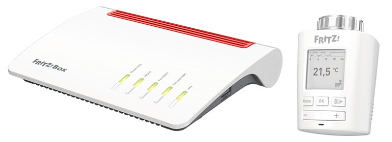 AVM FRITZ!Box 7590 + 2x FRITZ!DECT 301 Heizkörperthermostat für 239,79€ inkl. Versand