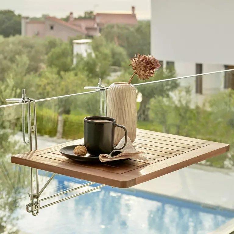 """Bessagi Garden Balkontisch """"Helena"""" (40x60cm) aus Akazienholz für 17,43€ inkl. Versand (statt 40€)"""