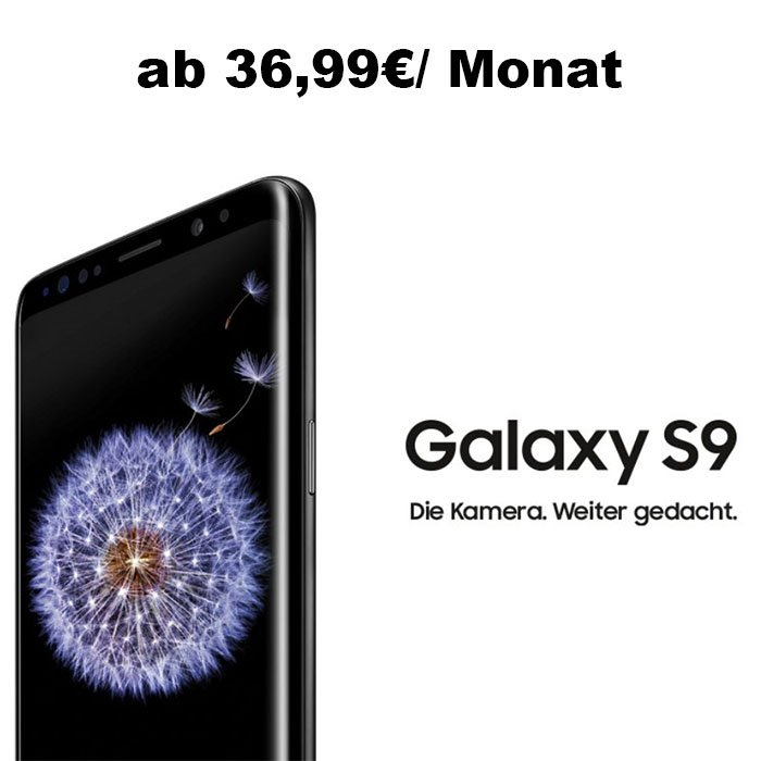 Logitel: Samsung Galaxay S9 / S9+ im Vertrag ab 36,99€/Monat
