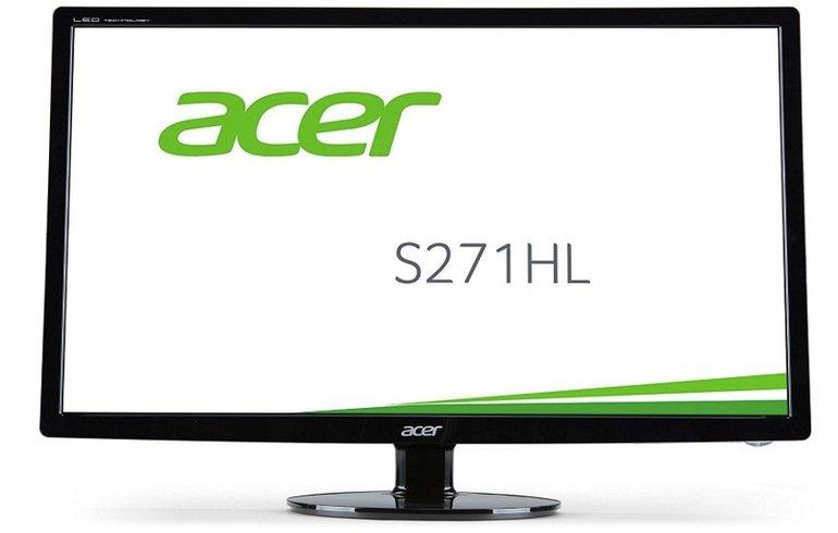 Acer S271HLFbid - 27 Zoll Full-HD Monitor (VGA, DVI, HDMI Kanäle, 1ms) für 170€