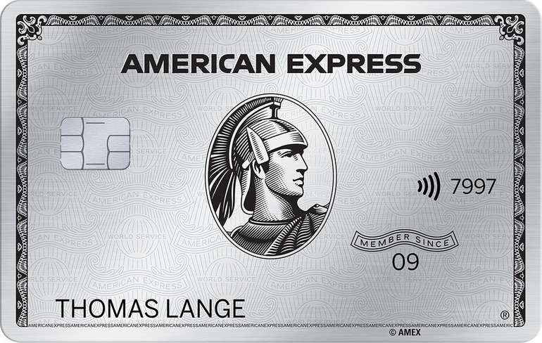 American Express Platinum Card (55€/Monat) abschließen & 375€ erhalten + 400€ Reiseguthaben - jederzeit kündbar