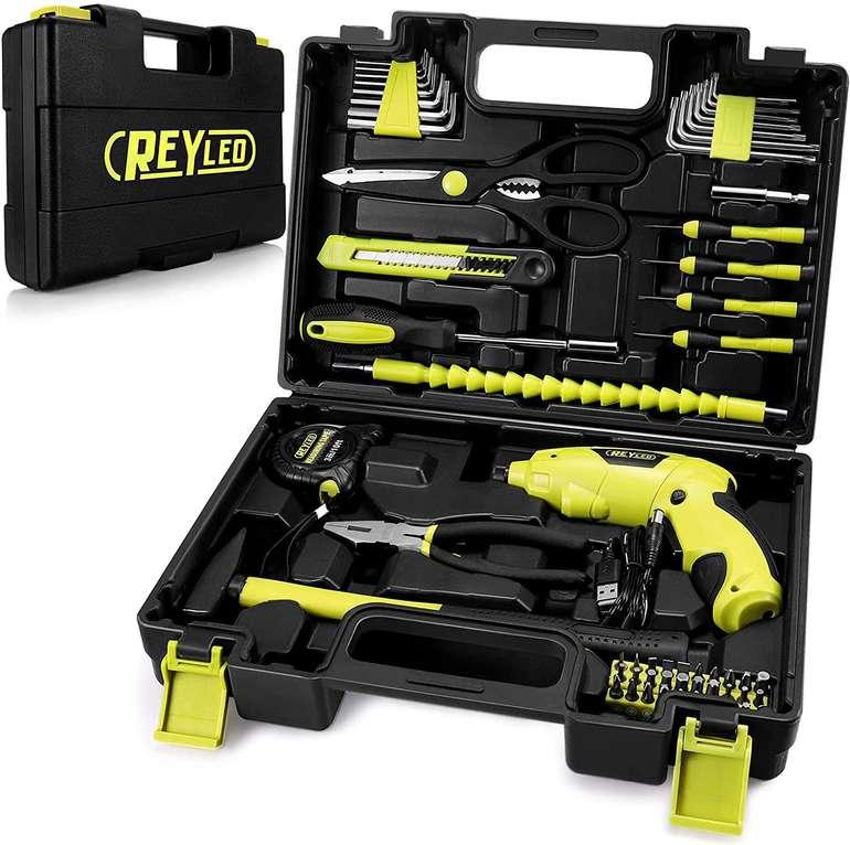 Reyleo Akkuschrauber (3.6V, 57-tlg, LED Arbeitslicht) für 19,99€ inkl. Prime Versand