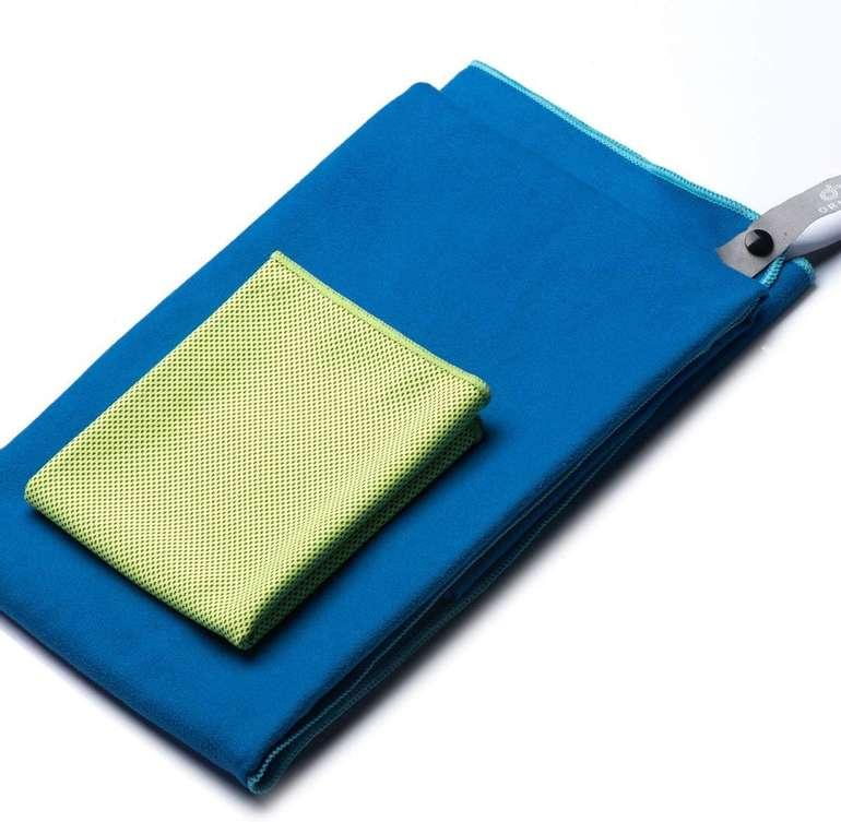 OriHea 2er-Set Mikrofaser Handtücher mit Tasche für 5,95€ inkl. Prime Versand (statt 17€)