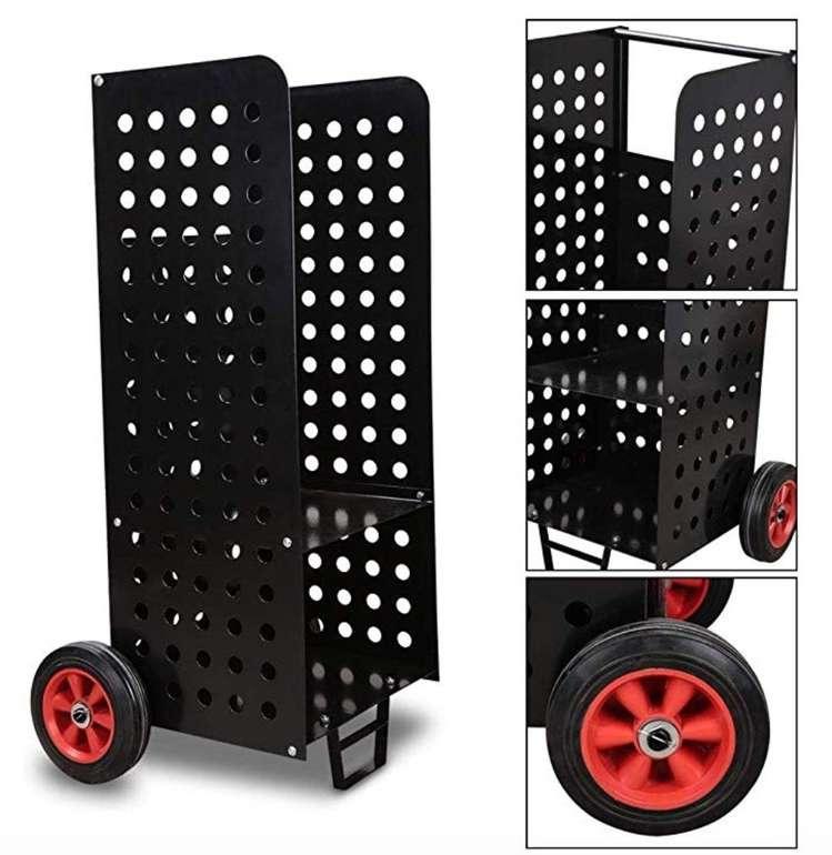 Wolketon Kaminholzwagen mit bis zu 80kg Traglast (45x55x104 cm) für 37,09€ (statt 53€)