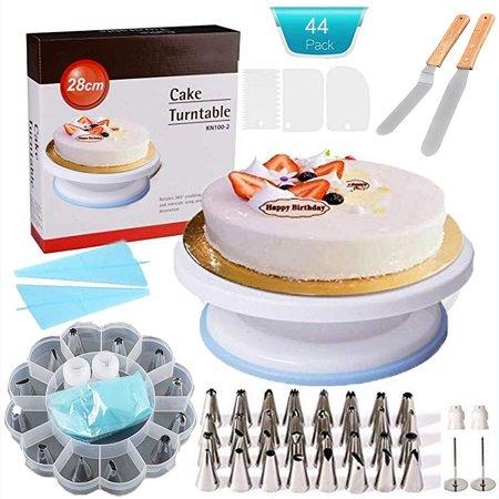 Weiß - drehbare Tortenplatte mit großem Zubehör-Paket für 13,99€ (Prime)