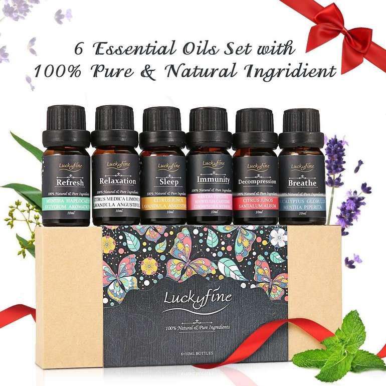 Luckyfine ätherische Öle im Geschenkset (6 x 10 ml) für 8,32€ (Prime)