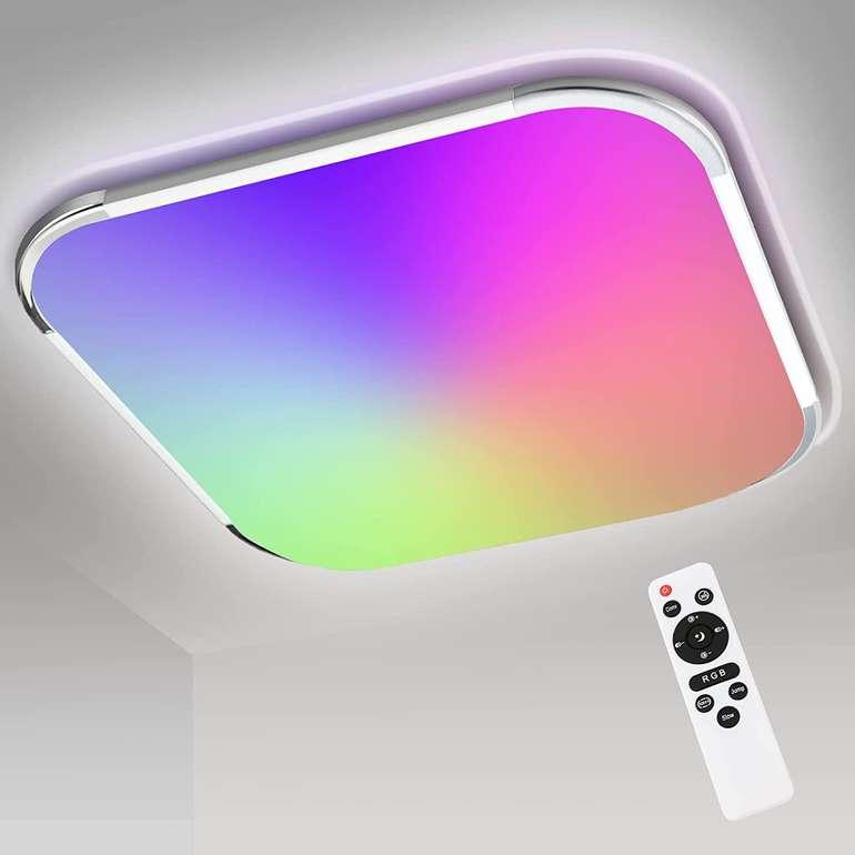 Vingo 24W RGB LED Deckenleuchte mit Fernbedienung für 21,59€ (statt 36€)