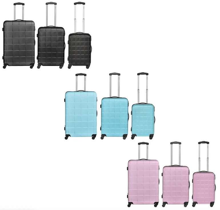 3er Set Bannisters New York Empire Reisekoffer (ABS, Hartschale, Zahlenschloss) für 79€