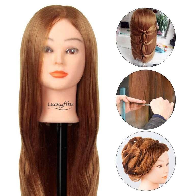 """LuckyFine - 24"""" Übungskopf/Frisierkopf mit langen Haaren für 17,39€ inkl. Prime Versand"""