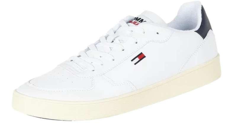 Tommy Jeans Sneaker aus Ledermischung in Weiß für 59,99€inkl. Versand (statt 85€)