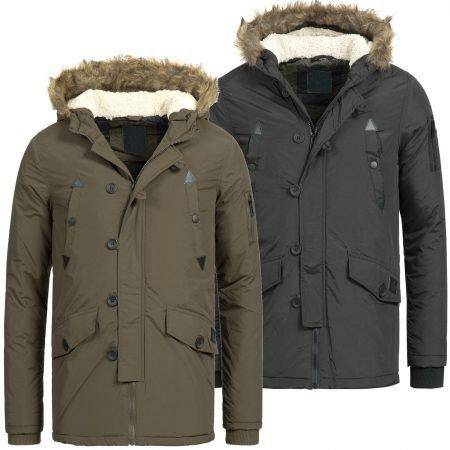 Azuonda Herren Winter Parka AZ26 (schwarz/khaki) für 24,90€ inkl. Versand