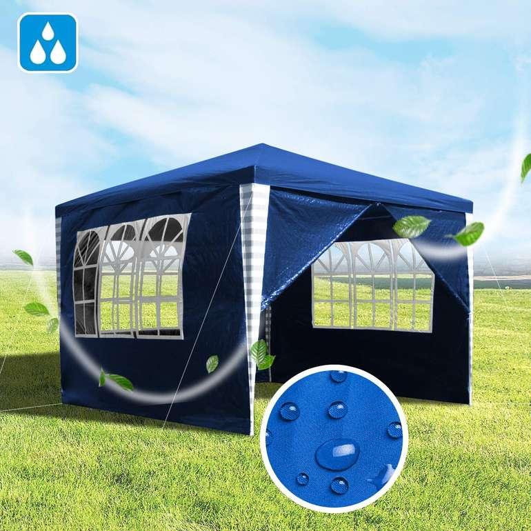 Wolketon Pavillon (3 x 3 m, 3 Farben, 4 Seitenteile) für je 29,89€ inkl. Versand (statt 46€)