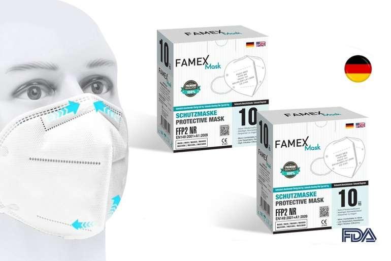 Famex Mask 10er Pack FFP2NR Masken (einzeln verpackt) für 8,90€ inkl. Versand (statt 10€)