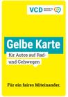 Gelbe Karte für Falschparker - bis zu 50 Exemplare kostenlos bestellen