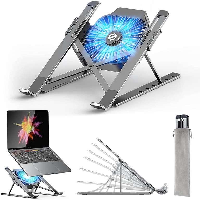 Beartwo Laptop Ständer mit abnehmbaren USB-Lüfter für 11,49€ inkl. Prime Versand (statt 23€)