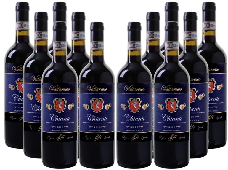 12 Flaschen Vallaresso - Chianti DOCG (2016) für 49,92€ inkl. Versand