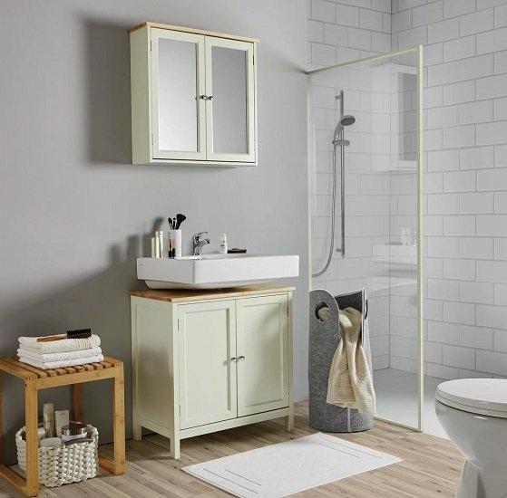 Bessagi Home Waschbeckenunterschrank Jule für 24,86€ (statt 41€)