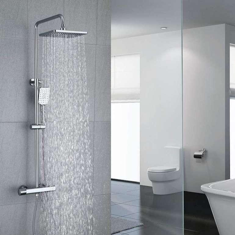Umi Duschsystem mit Thermostat, Handbrause & Regendusche für 113,99€ inkl. Versand (statt 155€)