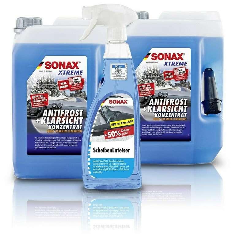2x 5L Sonax XTREME AntiFrost & KlarSicht Konzentrat + 1x 750 ml SONAX ScheibenEnteiser für 31,19€