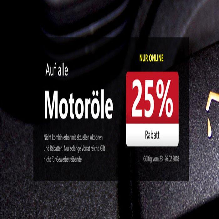 25% Rabatt auf Motoröl bei A.T.U – VSKfrei ab 50€