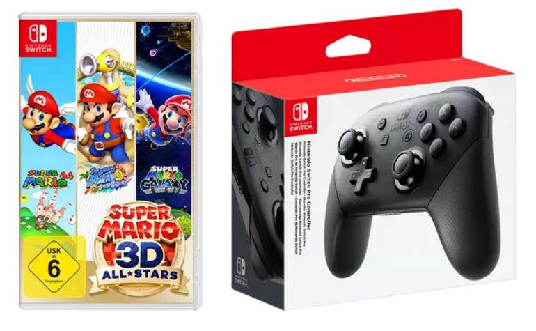 Nintendo Switch Pro Controller + Super Mario 3D All-Stars für 90,98€ (statt 128€) - Newsletter!