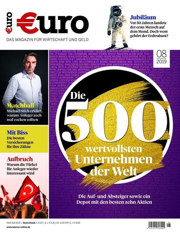 """Finanzmagazin """"Euro"""" im Jahresabo für 91€ + Bis zu 95€ Gutschein!"""