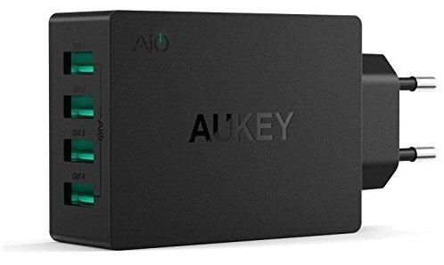 AUKEY USB Ladegerät mit 4 USB-Ports und 40W AiPower Technology für 10,99€