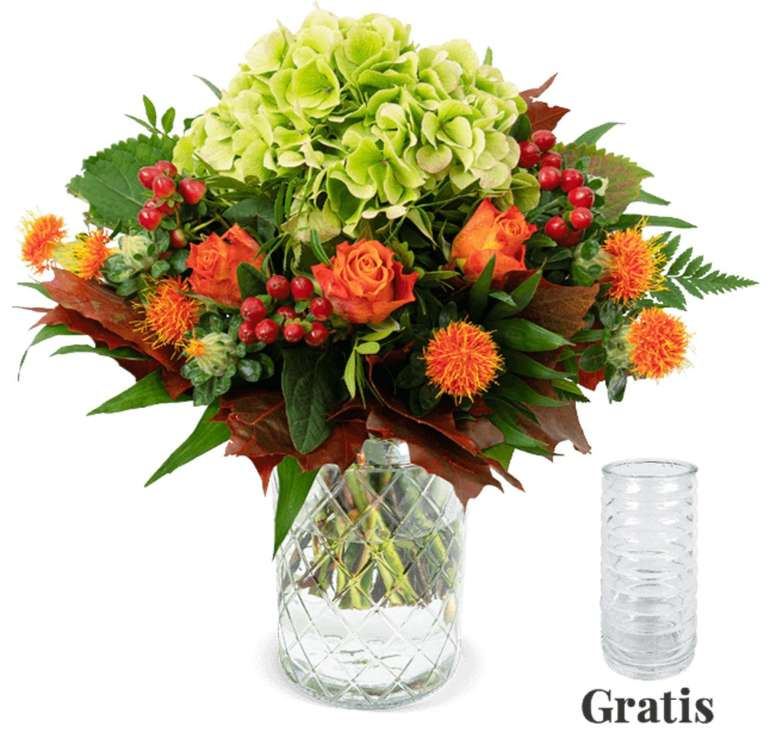 """Blumenstrauß """"Herbstglück"""" + gratis Vase für 24,53€ inkl. Versand (statt 30€)"""
