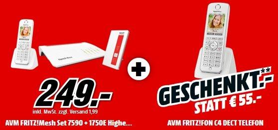AVM FRITZ! Mesh Set 7590 + 1750 + FRITZ!Fon C4 2