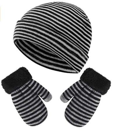 """Vbinger Set """"Beanie"""" mit Wintermütze und Handschuhe (1 - 5 Jahre) für 6,49€ inkl. Prime Versand (statt 13€)"""