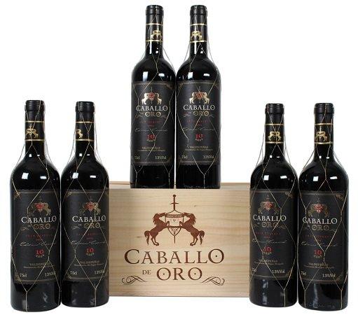 6 Flaschen Caballo de Oro Rotwein in hübscher Holzkiste für 41,94€