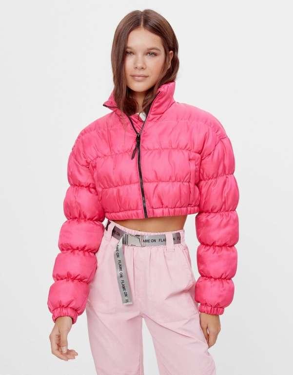 Bershka Damen Nylon Cropped-Jacke in 3 Farben für je 13,94€ inkl. Versand (statt 30€)