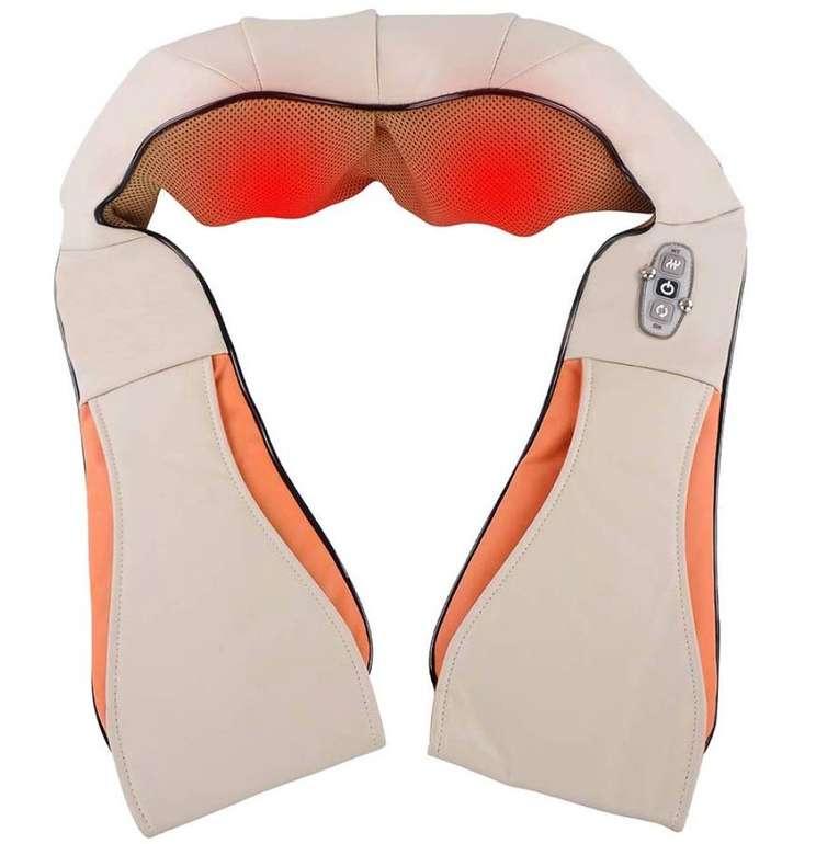 Vingo Shiatsu Nackenmassagegerät mit 8 rotierende Massageköpfen für 15,99€ (statt 32€)