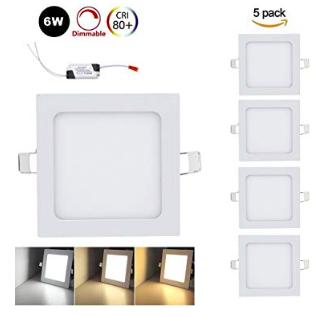 5er Pack Vingo 6W LED Panel (eckig, dimmbar) für 12,59€ inkl. Prime Versand