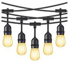 Minger - 15M LED Lichterkette mit 15 Vintage Edison-Birnen für 27,94€