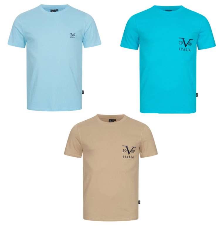 19V69 Versace Basic Logo Herren T-Shirts (vers. Farben) zu je 14,99€zzgl. Versand (statt 25€)
