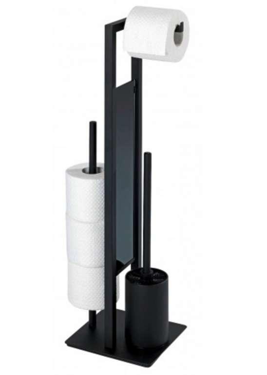 Wenko Stand-WC-Garnitur Rivalta 23708100 in schwarz für 28,49€ inkl. Versand (statt 45€)