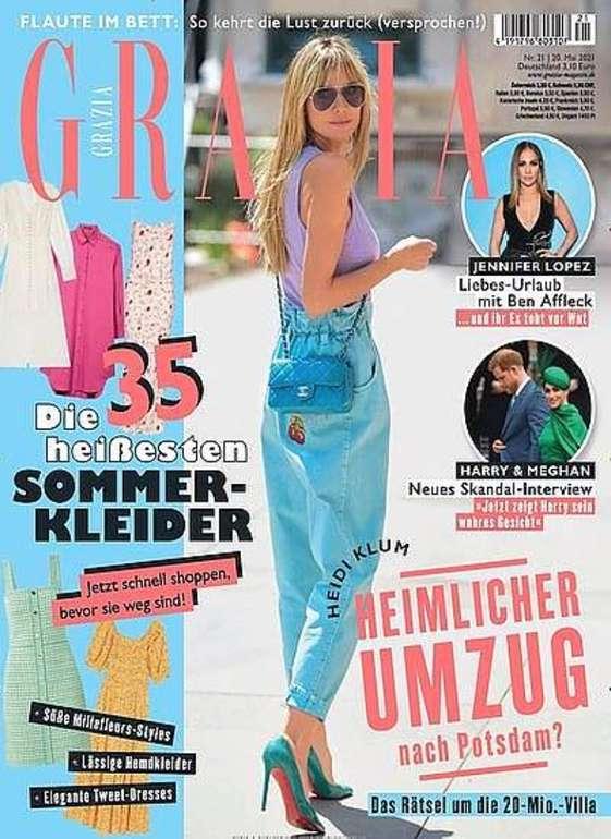 """Jahresabo """"Grazia"""" mit 51 Ausgaben für 168,40€ + z.B. 150€ Bestchoice-Gutschein!"""