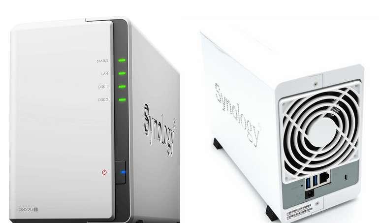 Synology DS220j 2-Bay NAS System (LAN Leergehäuse, Quad-Core-Prozessor) für 144€ inkl. Versand (statt 160€)