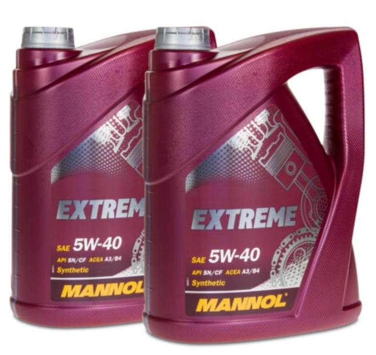 10 Liter Mannol SAE Extreme 5W-40 Motoröl für 30,99€ inkl. Versand (statt 38€)