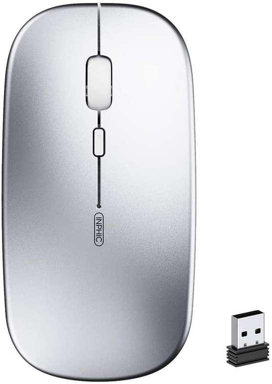 Inphic kabellose 2.4 GHz Maus mit Akku (1600 DPI, USB-Nano-Empfänger) für 6,25€ inkl. Prime Versand (statt 11€)