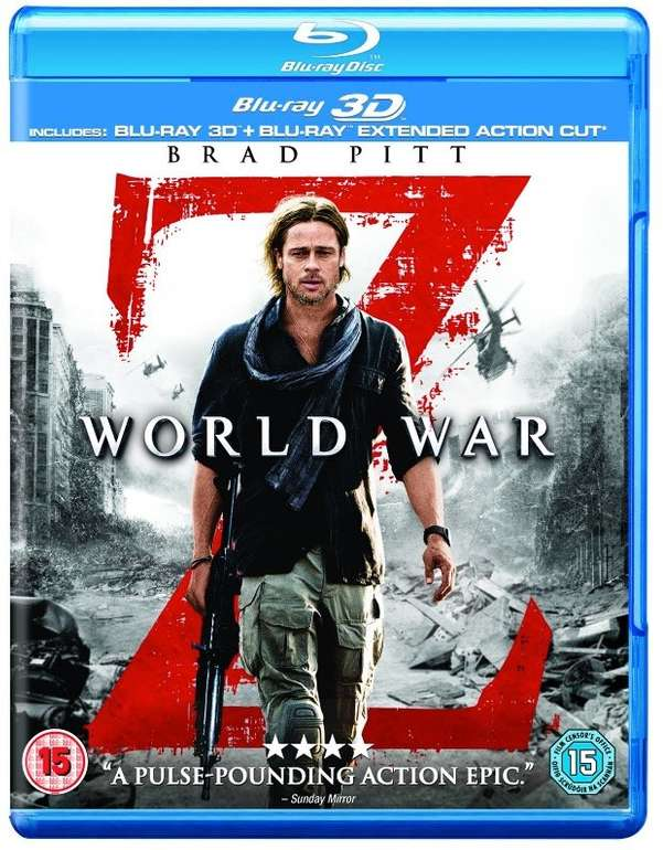 World War Z - Extended Action Cut [Blu-ray] für 6€ inkl. Versand (statt 9€)