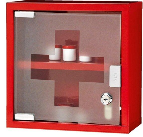 Zeller Medizinschrank 25cm Höhe (Glastür & Edelstahl Gehäuse) für je 12€
