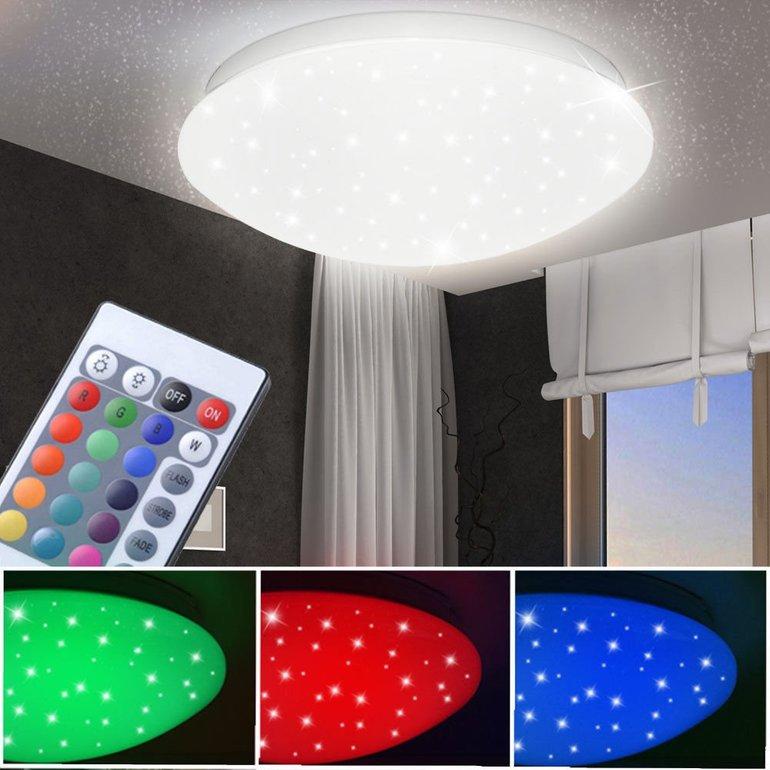 Globo LED-Deckenleuchte (RGB) mit Sterneffekt & Dimmer für 27,50€ inkl. Versand