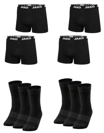 Jako Unterwäsche Set (12 Boxershorts & 12 Paar Socken) für 54,95€ inkl. Versand