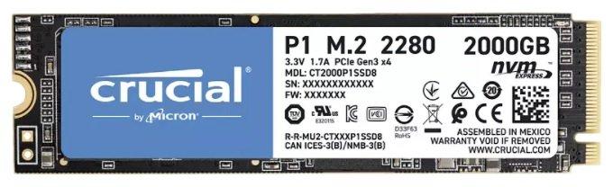 Crucial P1 M.2 2 TB SSD für 149€ inkl. Versand (statt 222€)