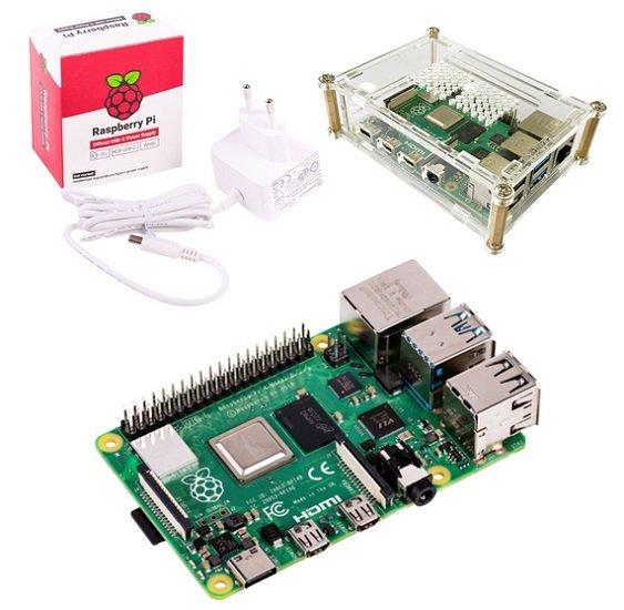 Raspberry Pi 4 Model B 4GB Starter Bundle (Raspberry + Gehäuse + Netzteil) für 59,98€ - Mastercard
