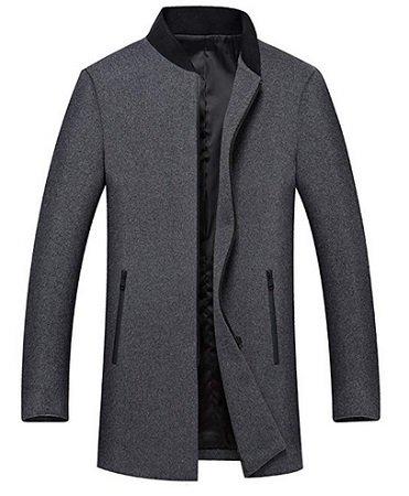 YOUTHUP Herren Wollmantel (Wolle 40%, Polyester 60%) für 38,99€ inkl. VSK