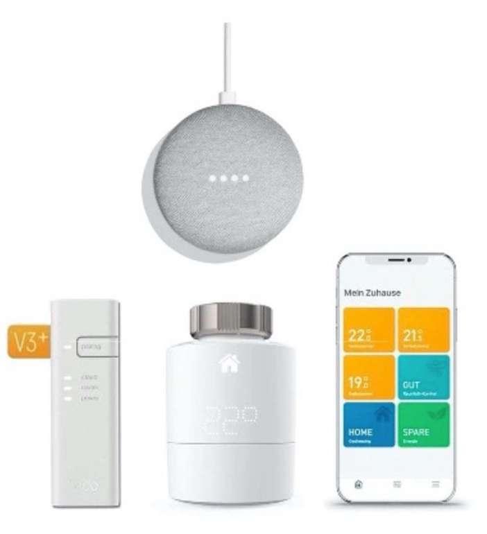 tado° Smartes Heizkörper-Thermostat Starter Kit V3+ inkl. Google Nest Mini für 74,90€ (statt 107€)