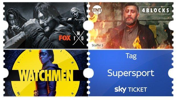 Neukunden: 1 Monat Sky Entertainment Ticket +  Supersport Tagesticket für 4,99€